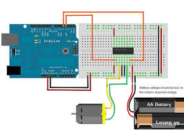 how to drive dc motor using l293d arduino community of robots in this way the arduino will get 9v and the motors will get 6v or whatever voltage you used through the second battery for the below circuit