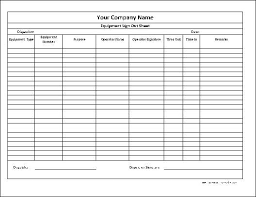 Sign Out Form Template Here Is A Preview Of The Personalized Equipment Sign Out