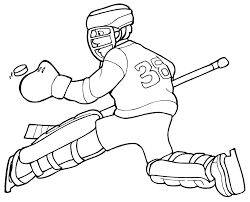 Small Picture Free Printable Hockey Coloring Pages For Kids
