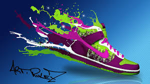 Nike wallpaper purple is a 720x1280 hd wallpaper picture for your desktop, tablet or smartphone. Hd Wallpaper Purple Green And White Nike Shoe Wallpaper Photoshop Boots Wallpaper Flare