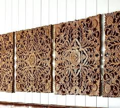 wall art set of 4 wooden art for ornate carved wood panel wall art set wall art set