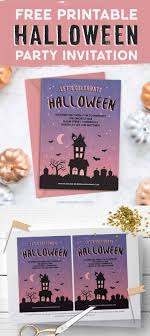 017 Free Printable Halloween Party Invitation Template