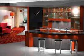 Red And Black Kitchen Awesome Red Kitchen Design With Concrete White Bar And Stylish