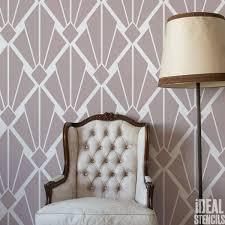 on art deco wall stencils uk with art deco vintage diamond pattern stencil ideal stencils