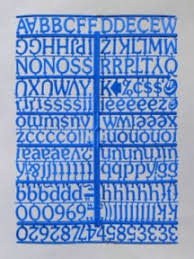 Blue Letters 3 4 Inch Blue Menu Board Letters Numbers 692 Piece Kit On Molded Sprue