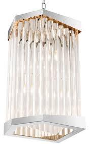 Casa Padrino Luxus Acryl Wohnzimmer Kronleuchter Silber 33 X 285 X H 61 Cm Wohnzimmermöbel