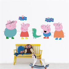 Peppa Pig Bedroom Accessories Peppa Pig Removable Wall Decal Stricker Wall Stickers Murals