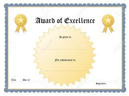 Blue Printable Award Certificate Template