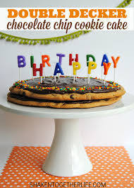 Double Decker Chocolate Chip Cookie Cake