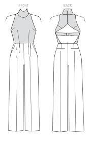 Jumpsuit Pattern Adorable V48 Vogue Patterns PPC Combinaisons Combishorts Salopettes