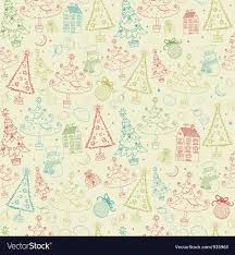 vintage christmas pattern.  Christmas Vintage Christmas Seamless Pattern Vector Image Throughout T