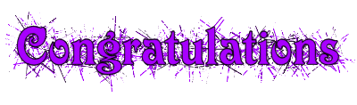 Image result for congratulations purple