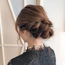 編み込みアップスタイル10選簡単なハーフのヘアアレンジで結婚式にも
