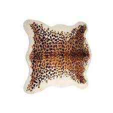 faux el paso leopard 5 ft x 8 ft cowhide rug
