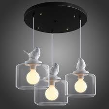 Bird Ceiling Light Fixture Us 117 8 5 Off 3 Heads Set Little Bird Pendant Light Bar Vintage American Rustic Lamp Lights In Pendant Lights From Lights Lighting On