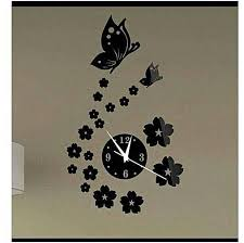 generic decorative wall clock acrylic type and easy to fix