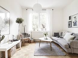 Scandinavian Interior living room coffee table With Plants Decor. Scandinavian  Home Interior