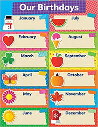 Birthday Chart Tape It Up Our Birthdays Chart Scholastic 9781338128017