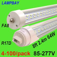 8ft Black Light Bulb Us 85 0 4 100 Pack Super Bright Led Tube Bulb 8ft 2 4m Fa8 R17d Rotated Ho Twin Row Lights Retrofit Fluorescent Lamp Double Bar Lighting In Led
