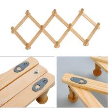 Expandable Wooden Coat Rack Fascinating Expandable Wood Wooden Peg Wall Hat Coat Mug Rackin Coat Racks From