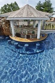 Plain Backyard Pool Bar Poolside With Built In Underwater Stools Inside Modern Design
