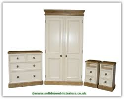 pine bedroom set waxed and cream painted