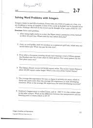 integer word problems worksheet grade 7 switchconf
