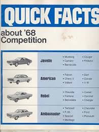 cheap 1968 corvair for 1968 corvair for deals on get quotations · 1968 amc javelin american rebel vs mustang camaro cougar corvair brochure