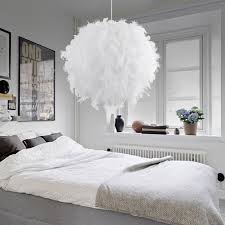 pendant lighting bedroom. Modern Pendant Light Romantic Dreamlike Feather Droplight Bedroom Hanging Lamp Lamparas E27 110-240V Lighting O