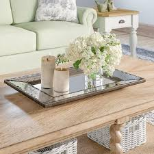 Relaxdays coffee table hardened frosted glass couch table side table steel hxwxd. How To Choose A Decorative Tray Foter
