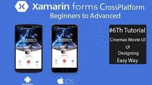 Xamarin Forms Ui Design Xamarin Forms Cinemax Ui Design Tutorial 6
