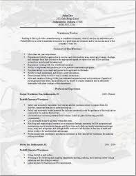 Warehouse Resume Templates Interesting 28 Resume For Warehouse Worker Templates Best Resume Templates