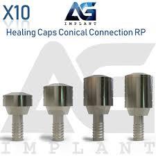Details About 10 Healing Cap Conical Connection Rp Titanium For Abutment Dental Implant