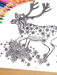 Small Picture Printable Adult Coloring Page Mandala Caribou
