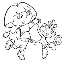 Explorer Coloring Pages Design For 40 Dora The Explorer Coloring Pdf
