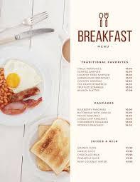 Modern Continental Breakfast Menu Breakfast Menu Food