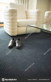 Luxus Modernen Stil Hotel Suite Schlafzimmer Mit Herren Schwarz