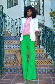 green with envy   Business casual attire, Bell bottom pants, Linen blazer