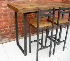 Breakfast Bar Table Bar Stools Rustic Industrial Bar Table Table And
