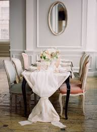elegant dining room table cloths. mixing and matching when it comes to anything, including dining room chairs~cinched linen velvet chairs provide a romantic table setting. elegant cloths t