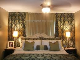 Elegant Wall To Wall Curtains In Bedroom