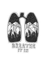 '<b>Breathe</b> It In' <b>Sticker</b> by LPBillustration в 2020 г. | Гриффонаж ...