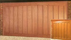 wood double garage door. Picture Of Double Wessex Pembroke GRP Garage Door Wood