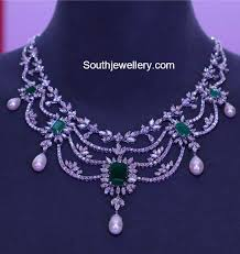 diamond necklace models by tanishq