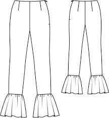 Flare Pants Pattern Unique Flared Pants 4848 48 Sewing Patterns BurdaStyle
