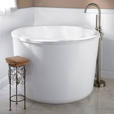Bathroom: Captivating Bathroom Japanese Soaking Tub Small Marble Mosaic  Tile Flooring In For from Japanese