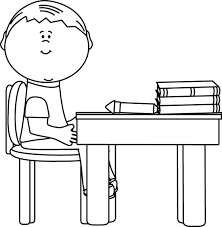 desk clipart black and white. Exellent Black Black And White School Boy At Desk Clip Art   On Clipart And C