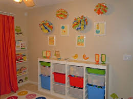 awesome recessed toy storage organizer ideas with plastic storage bin and wall mount rack