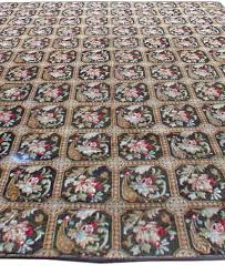 antique needlepoint rug bb0650