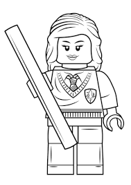 Small Picture Lego Hermione Granger coloring page Free Printable Coloring Pages